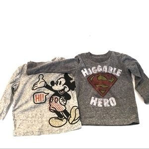 3/$25 Two Boy's Jumping Bean Graphic T-Shirts 12M